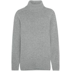 Chloé Cashmere turtleneck sweater (1,845 CAD) ❤ liked on Polyvore featuring tops, sweaters, chloe, grey, turtle neck sweater, oversized turtleneck sweater, grey turtleneck, grey cashmere sweater and cashmere turtleneck sweaters