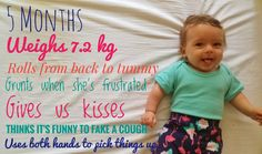 5 month old baby update 5 Month Old Baby, 5 Month Olds, 5 Months, Lifestyle Blog, Things To Think About, Parenting, Babies, Funny, 5 Month Baby