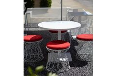 Re-Trouvé Pouf designed by Patricia Urquiola for EMU Outdoor Pouf, Patricia Urquiola, Emu, Industrial Design, Bar Stools, Outdoor Furniture, Home Decor, Bar Stool Sports, Decoration Home