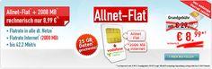 2GB Vodafone Allnet Flat für effektiv 8,99€ + 25GB Datenvolumen gratis http://www.simdealz.de/vodafone/mobilcom-debitel-comfort-allnet-2gb/