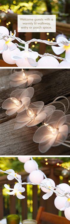 Flower string lights | floral #lighting_design