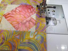 Nancy Zieman Paper Pieced Heart Postcard Step Thirteen