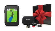Garmin Approach G30 Gift Box Bundle | Includes Handheld Golf GPS, Belt Clip, PlayBetter Protective Case, PlayBetter Wall & Car USB Charging Adapters | Black Gift Box & Red Bow