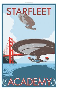 Starfleet Academy Print by damonboreing on Etsy