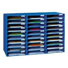 Classroom Keepers Mail Box, Blue, 30 Slots (001318)