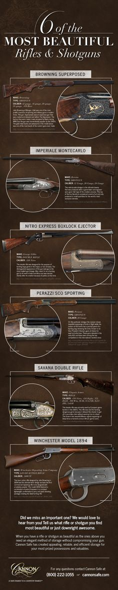 6 most beautiful rifles u0026 shotguns cannon safe