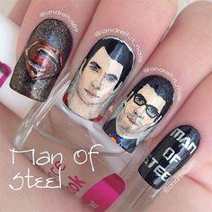 Amazing Superman Nail Art Designs, Ideas, Trends, Stickers & Wraps 2014