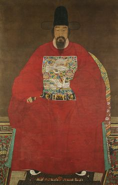 Ming Dynasty ancestor portrait of an official, gbp Korean Painting, Chinese Painting, Chinese Art, Korean Art, Asian Art, Asian History, Art History, Chinoiserie, Photografy Art