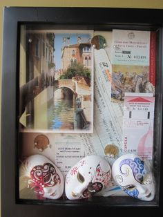 this is the best idea ever. I've already made one from my semester abroad--it's a travel shadow box! Put all your souvenirs, tickets, post cards, maps, anything in these and it will look incredible!