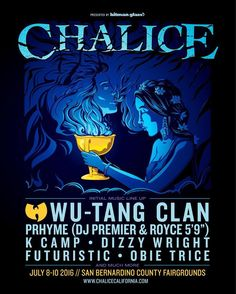 Goin to be kickin it at Chalice w/ Wu-Tang Clan and other dope artists on 7/10. http://ift.tt/1TwHPz5