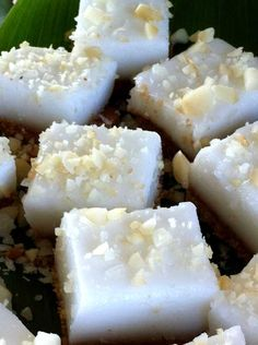 Make a dreamy treat of coconut at home with this Haupia Pudding Squares #recipe.