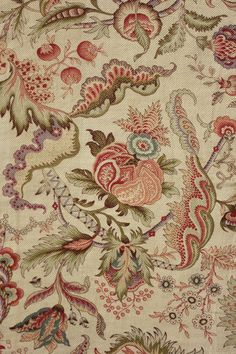 Vintage French Indienne design printed cotton ~ early 20th century ~ magical design ~ twill weave cotton fabric ~ for many craft / sewing  projects