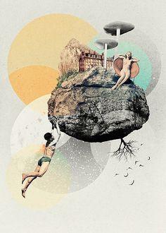 Lady Asteroïd - Julien Pacaud • Illustration • Perpendicular Dreams