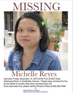 Missing Persons of America: Michelle Reyes: Missing from Arizona