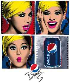 "Beyonce Pays Homage to Andy Warhol's Pop Art in Pepsi ""Live for NOW"" Campaign Poster The Velvet Underground, Andy Warhol Pop Art, Marcel Duchamp, Art Pop, Cuadros Pop Art, Pop Art Pictures, Native Advertising, Campaign Posters, Advertising Campaign"