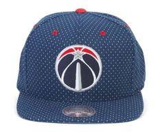 Mitchell & Ness Washington Wizards Dotted Cotton Hat, Men's, Blue