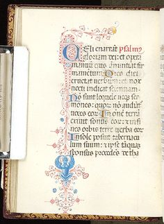 An example of a manuscript page written in Italian textua (textualis - a type of Gothic script). Morgan Library in New York. Book of Hours Italy, Milan, ca. 1450-1475 MS M.80 fol. 17v. Copyright Morgan Library.