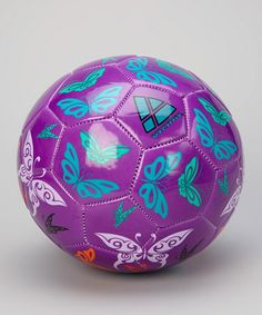 Take a look at this Purple & Orange Butterflies Soccer Ball by Vizari on #zulily today!