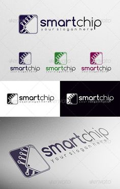 Business Branding, Logo Branding, Branding Design, Logo Design Template, Logo Templates, Electricity Logo, Web Design, Graphic Design, Computer Chip