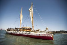 The Hine Moana - she is so pretty!! #vaka #sailing