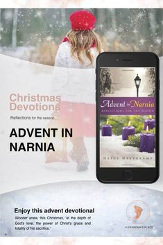 Review of the Christmas devotional, Advent in Narnia.. Whether you know and love Narnia books or have just heard of them, I think you will enjoy this Advent devotional and will wonder anew, this Christmas, 'at the depth of God's love, the power of Christ's grace and totality of his sacrifice.' Read this review argrandmasplace.com