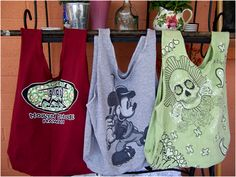 Art Threads: Wednesday Sewing - Repurposed T-shirt Bags