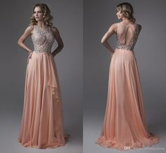Gradient Ombre Prom Dress Long Floor Length Sleeveless Deep V Neck ...
