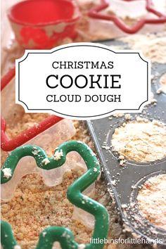 Christmas Cloud Dough Cookie Sensory Play Recipe