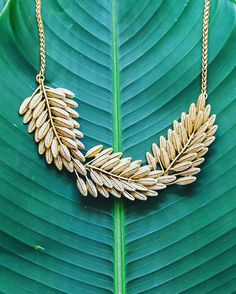 Amala leaf necklace