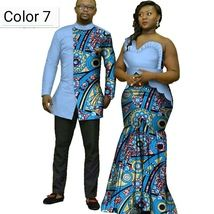 African couple Cotton clothing African ethnic wax printing Skirt and Men's Shirt Couples African Outfits, African Dresses Men, African Fashion Ankara, Latest African Fashion Dresses, Nigerian Fashion, African Shirts For Men, African Attire For Men, African Wear, Modern African Clothing
