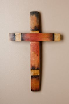 Napa Valley Wine Barrel Stave Cross by alpinewinedesign, on Etsy
