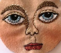 Penny Lane Ink: Embroidered Art Doll (day 1)