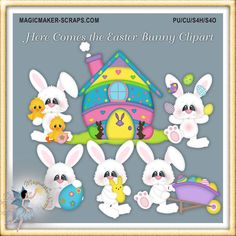 Here Comes the Easter Bunny Clipart