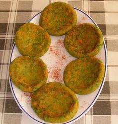 Hamburguesas vegetarianas (con maizena y pan rallado + verduras)