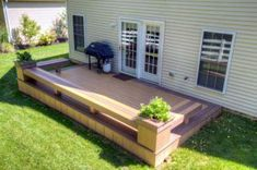 Small Deck Ideas - Decorating Porch Design On A Budget Space Saving DIY Backyard. Backyard Seating, Small Backyard Landscaping, Small Patio, Backyard Patio, Patio Roof, Patio Privacy, Wedding Backyard, Small Decks, Deck Seating