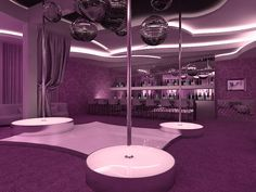 Quite cosily as for nightclub but also nice idea for nightclub design