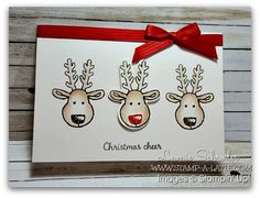 Stamp A Latte – Leonie Schroder Stampin' Up!® Demonstrator Australia - Christmas Cheer - Stamp A Latte - Leonie Schroder Stampin' Up! Homemade Christmas Cards, Handmade Christmas, Christmas Diy, Winter Cards, Holiday Cards, Christmas Cookie Cutters, Punch, Kids Cards, Cards Diy
