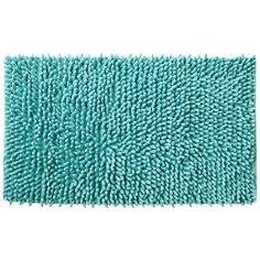 Aqua bath matt . . . would it work with the new floor? Could Terri appreciate the funky flavor?