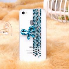 Blue Pearl Butterfly  iPhone 5  case 3D case Pearl by dnnayding, $23.99