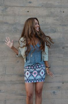 skirt and hair color