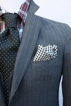 Mens Vintage 3 Piece Gray Pinstripe Suit from ViVifyVintage