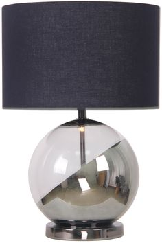 Caleb Table Lamp, Smoke | BHS