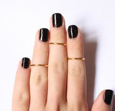 3 Above the Knuckle Gold Plated Rings  set of 3 stack by galisfly, $12.99