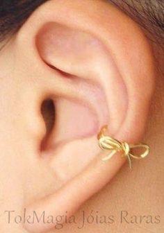 Piercing de Orelha Laço de Ouro 18 klts