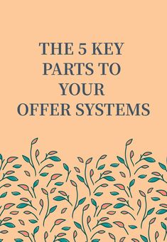 Having strong systems for your offers means less stress for you and less stress for your clients. It also ensures you are delivering a more consistent service to your clients and gives you a place to refine and optimize from. Mak sure you have these 5 key parts in your offer systems. Social Media Content, Social Media Tips, Sales And Marketing, Content Marketing, Make Money Blogging, How To Make Money, How To Get Clients, Learn To Run, Business Entrepreneur