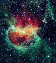 Infrared picture of the Lambda Centauri Nebula, also known as the Running Chicken