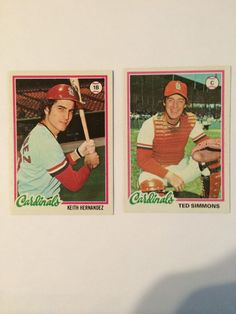 1978 topps baseball cards Ted Simmons 380 Keith Hernandez 143-- my teenage dilemma ;)