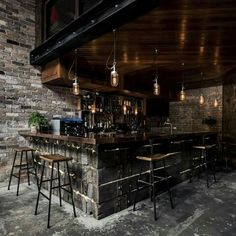 The Donny's Bar was designed in Sydney by the studio Luchetti Krelle. It's a new-yorker loft look-like place, with high ceilings, beautiful industrial l Restaurant Design, Deco Restaurant, Industrial Restaurant, Modern Restaurant, Bar Interior Design, Cafe Design, House Design, Room Interior, Bar Design Awards