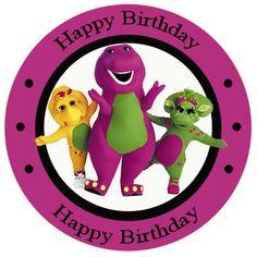 20 Barney Baby Bob Birthday Party Stickers by LilyPadInvitations, $5.00