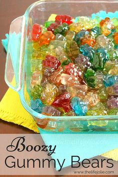 Boozy Gummy Bears are super simple to make and are the perfect addition to an adult party. These are made with Whipped Cream Flavored Vodka, but you can use and liquor that you'd like. Click on the photo to read more...